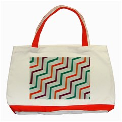 Line Color Rainbow Classic Tote Bag (red)