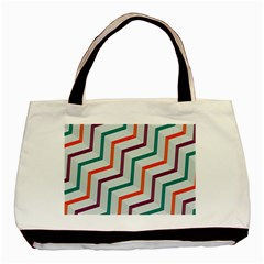 Line Color Rainbow Basic Tote Bag (two Sides) by Alisyart