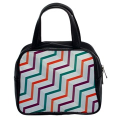 Line Color Rainbow Classic Handbags (2 Sides) by Alisyart