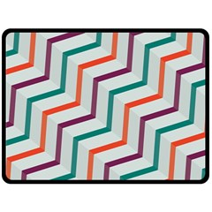 Line Color Rainbow Fleece Blanket (large)