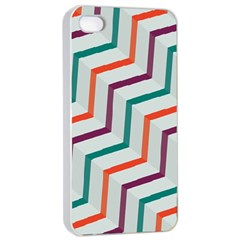 Line Color Rainbow Apple Iphone 4/4s Seamless Case (white) by Alisyart