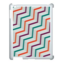 Line Color Rainbow Apple Ipad 3/4 Case (white)