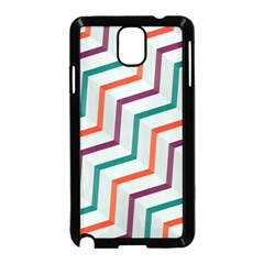 Line Color Rainbow Samsung Galaxy Note 3 Neo Hardshell Case (black) by Alisyart
