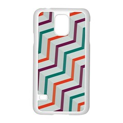 Line Color Rainbow Samsung Galaxy S5 Case (white)