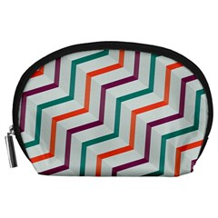 Line Color Rainbow Accessory Pouches (large)  by Alisyart