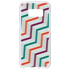 Line Color Rainbow Samsung Galaxy S8 White Seamless Case by Alisyart