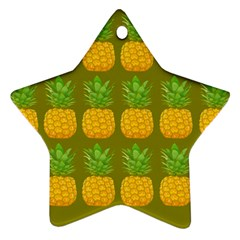 Fruite Pineapple Yellow Green Orange Ornament (star) by Alisyart
