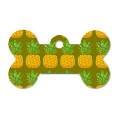 Fruite Pineapple Yellow Green Orange Dog Tag Bone (two Sides) by Alisyart
