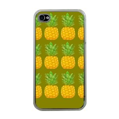 Fruite Pineapple Yellow Green Orange Apple Iphone 4 Case (clear) by Alisyart