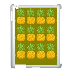 Fruite Pineapple Yellow Green Orange Apple Ipad 3/4 Case (white)
