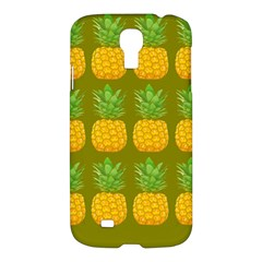 Fruite Pineapple Yellow Green Orange Samsung Galaxy S4 I9500/i9505 Hardshell Case