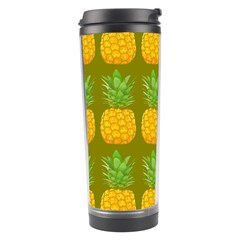 Fruite Pineapple Yellow Green Orange Travel Tumbler by Alisyart