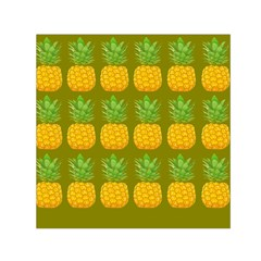 Fruite Pineapple Yellow Green Orange Small Satin Scarf (square)