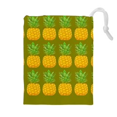 Fruite Pineapple Yellow Green Orange Drawstring Pouches (extra Large)