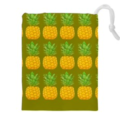 Fruite Pineapple Yellow Green Orange Drawstring Pouches (xxl) by Alisyart