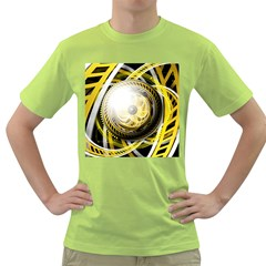 Incredible Eye Of A Yellow Construction Robot Green T Shirt by jayaprime