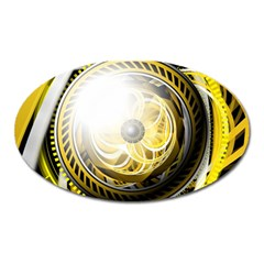 Incredible Eye Of A Yellow Construction Robot Oval Magnet by jayaprime