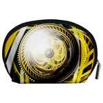 Incredible Eye of a Yellow Construction Robot Accessory Pouches (Large)  Back