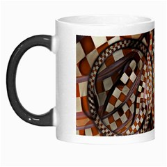 Midnight Never Ends, A Red Checkered Diner Fractal Morph Mugs by jayaprime