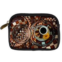 Midnight Never Ends, A Red Checkered Diner Fractal Digital Camera Cases by jayaprime