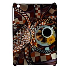 Midnight Never Ends, A Red Checkered Diner Fractal Apple Ipad Mini Hardshell Case by jayaprime