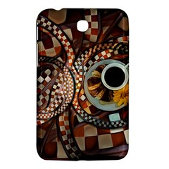 Midnight Never Ends, A Red Checkered Diner Fractal Samsung Galaxy Tab 3 (7 ) P3200 Hardshell Case  by jayaprime
