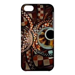 Midnight Never Ends, A Red Checkered Diner Fractal Apple Iphone 5c Hardshell Case by jayaprime