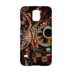 Midnight Never Ends, A Red Checkered Diner Fractal Samsung Galaxy S5 Hardshell Case  by jayaprime