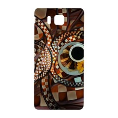 Midnight Never Ends, A Red Checkered Diner Fractal Samsung Galaxy Alpha Hardshell Back Case by jayaprime