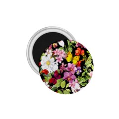 Beautiful,floral,hand painted, flowers,black,background,modern,trendy,girly,retro 1.75  Magnets