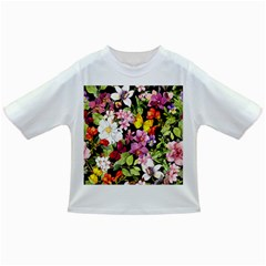 Beautiful,floral,hand painted, flowers,black,background,modern,trendy,girly,retro Infant/Toddler T-Shirts