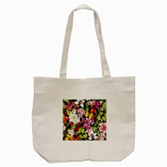 Beautiful,floral,hand painted, flowers,black,background,modern,trendy,girly,retro Tote Bag (Cream)