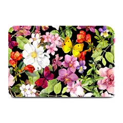 Beautiful,floral,hand painted, flowers,black,background,modern,trendy,girly,retro Plate Mats