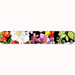 Beautiful,floral,hand painted, flowers,black,background,modern,trendy,girly,retro Small Bar Mats