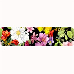 Beautiful,floral,hand painted, flowers,black,background,modern,trendy,girly,retro Large Bar Mats
