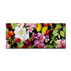 Beautiful,floral,hand painted, flowers,black,background,modern,trendy,girly,retro Cosmetic Storage Cases