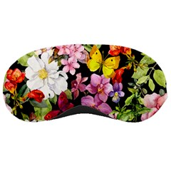 Beautiful,floral,hand painted, flowers,black,background,modern,trendy,girly,retro Sleeping Masks