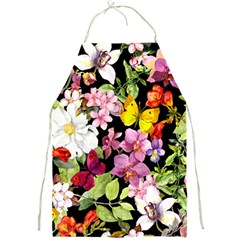 Beautiful,floral,hand painted, flowers,black,background,modern,trendy,girly,retro Full Print Aprons
