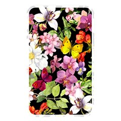Beautiful,floral,hand painted, flowers,black,background,modern,trendy,girly,retro Memory Card Reader