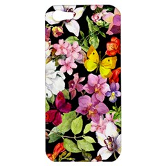 Beautiful,floral,hand painted, flowers,black,background,modern,trendy,girly,retro Apple iPhone 5 Hardshell Case
