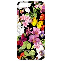Beautiful,floral,hand painted, flowers,black,background,modern,trendy,girly,retro Apple iPhone 5 Classic Hardshell Case