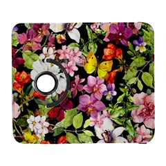 Beautiful,floral,hand painted, flowers,black,background,modern,trendy,girly,retro Galaxy S3 (Flip/Folio)