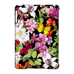 Beautiful,floral,hand painted, flowers,black,background,modern,trendy,girly,retro Apple iPad Mini Hardshell Case (Compatible with Smart Cover)
