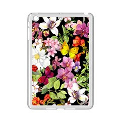 Beautiful,floral,hand painted, flowers,black,background,modern,trendy,girly,retro iPad Mini 2 Enamel Coated Cases