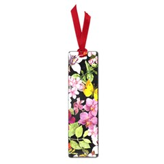 Beautiful,floral,hand painted, flowers,black,background,modern,trendy,girly,retro Small Book Marks