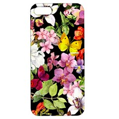 Beautiful,floral,hand painted, flowers,black,background,modern,trendy,girly,retro Apple iPhone 5 Hardshell Case with Stand