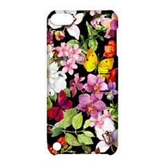 Beautiful,floral,hand painted, flowers,black,background,modern,trendy,girly,retro Apple iPod Touch 5 Hardshell Case with Stand