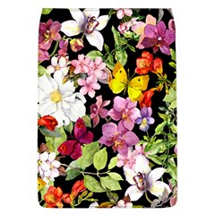 Beautiful,floral,hand painted, flowers,black,background,modern,trendy,girly,retro Flap Covers (L)