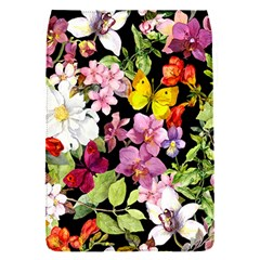 Beautiful,floral,hand painted, flowers,black,background,modern,trendy,girly,retro Flap Covers (S)