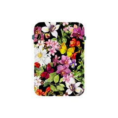 Beautiful,floral,hand painted, flowers,black,background,modern,trendy,girly,retro Apple iPad Mini Protective Soft Cases